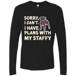 I Have Plans Staffordshire Bull Terrier Premium Long Sleeve Shirt