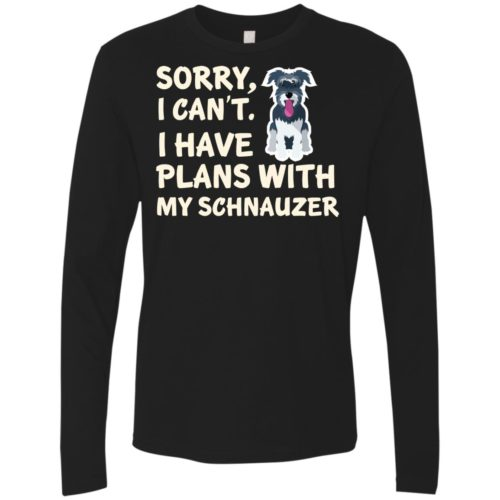 I Have Plans Schnauzer Premium Long Sleeve Tee