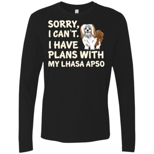 I Have Plans Lhasa Apso Premium Long Sleeve Tee
