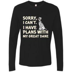 I Have Plans Great Dane Premium Long Sleeve Shirt