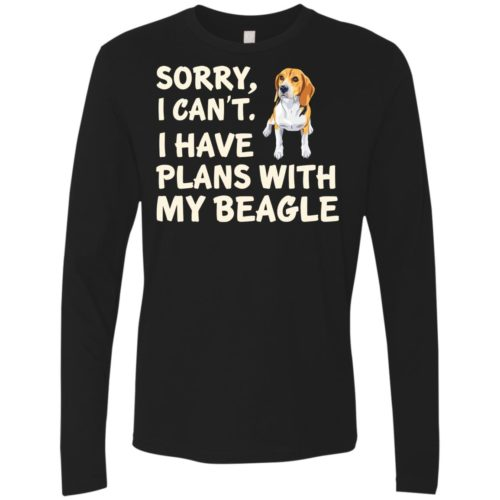 I Have Plans Beagle Premium Long Sleeve Tee