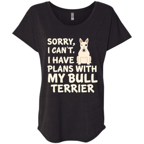 I Have Plans Bull Terrier Ladies' Slouchy T-Shirt