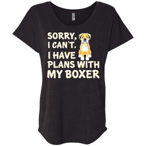 I Have Plans Boxer Slouchy Tee