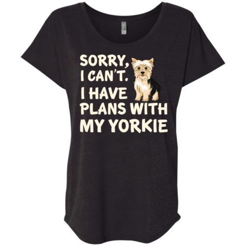 I Have Plans Yorkie Slouchy Tee