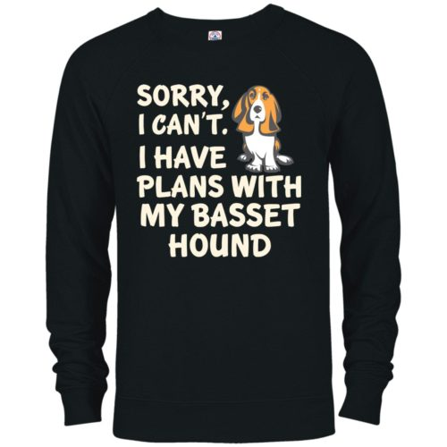 I Have Plans Basset Hound Premium Crew Neck Sweatshirt
