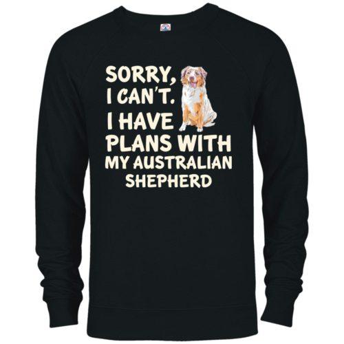 I Have Plans Australian Shepherd Premium Crew Neck Sweatshirt