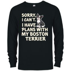 I Have Plans Boston Terrier Premium Crew Neck Sweatshirt