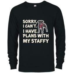 I Have Plans Staffordshire Bull Terrier Premium Crew Neck Sweatshirt