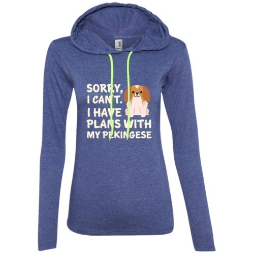 I Have Plans Pekingese Fitted T-Shirt Hoodie