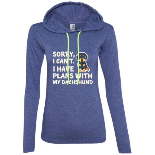 I Have Plans Dachshund Fitted T-Shirt Hoodie