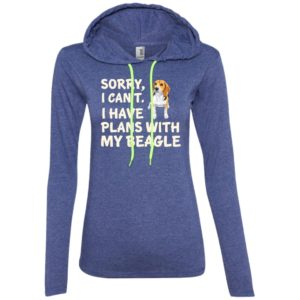 I Have Plans Beagle Fitted T-Shirt Hoodie