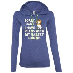 I Have Plans Basset Hound Fitted T-Shirt Hoodie