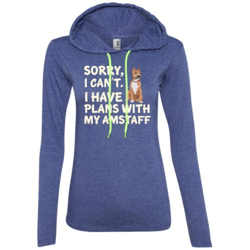 I Have Plans American Staffordshire Terrier Ladies' Lightweight T-Shirt Hoodie