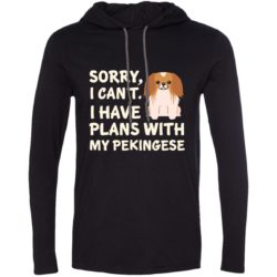 I Have Plans Pekingese Lightweight T-Shirt Hoodie