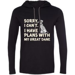 I Have Plans Great Dane Lightweight T-Shirt Hoodie