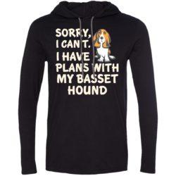 I Have Plans Basset Hound Lightweight T-Shirt Hoodie