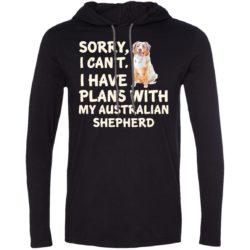 I Have Plans Australian Shepherd Lightweight T-Shirt Hoodie