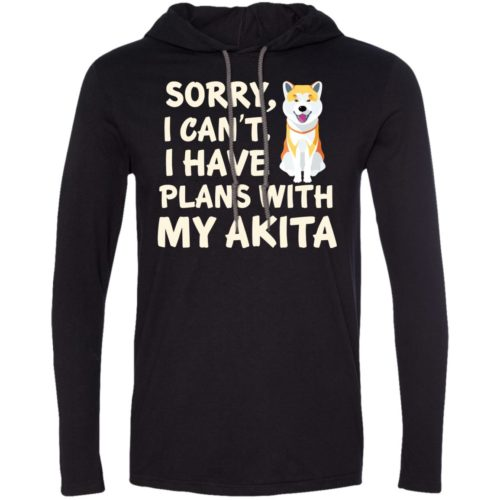 I Have Plans Akita Lightweight T-Shirt Hoodie