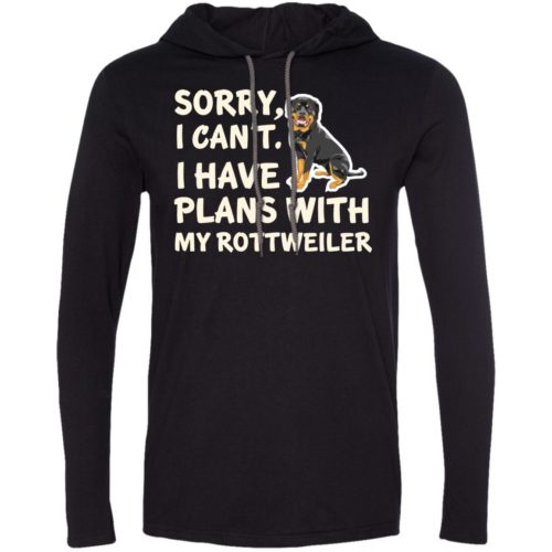 I Have Plans Rottweiler Lightweight T-Shirt Hoodie