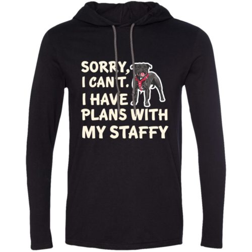 I Have Plans Staffordshire Bull Terrier Lightweight T-Shirt Hoodie