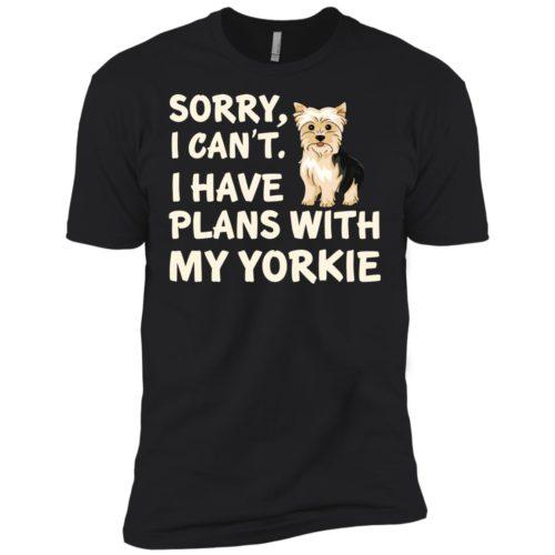 I Have Plans Yorkie Premium Tee