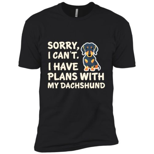 I Have Plans Dachshund Premium Tee