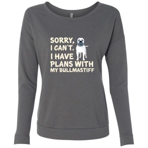 I Have Plans Bullmastiff Scoop Neck Sweatshirt