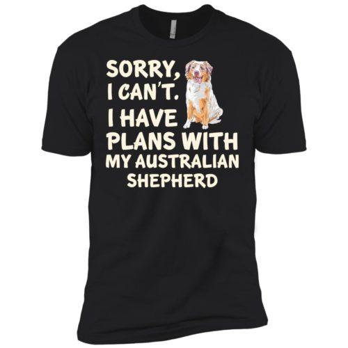 I Have Plans Australian Shepherd Premium T-Shirt