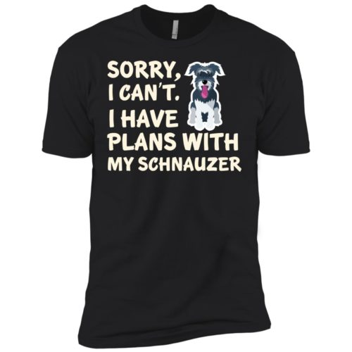 I Have Plans Schnauzer Premium Tee
