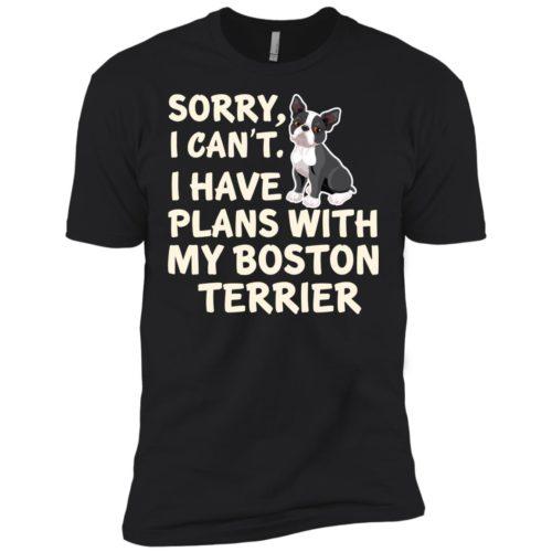 I Have Plans Boston Terrier Premium Tee