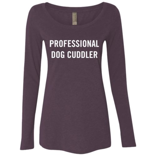 Professional Dog Cuddler Fitted Scoop Neck Long Sleeve