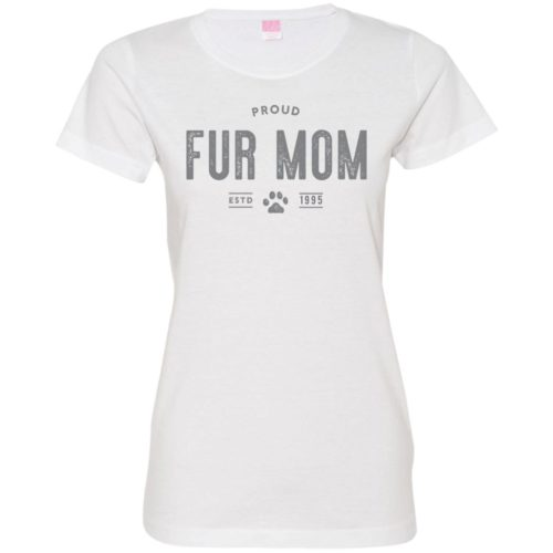 Proud Fur Mom Personalized Fitted Tee