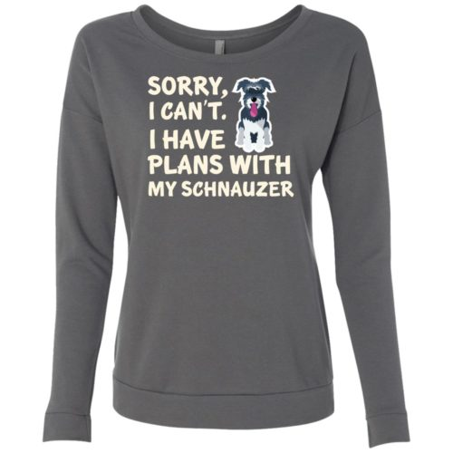 I Have Plans Schnauzer Scoop Neck Sweatshirt