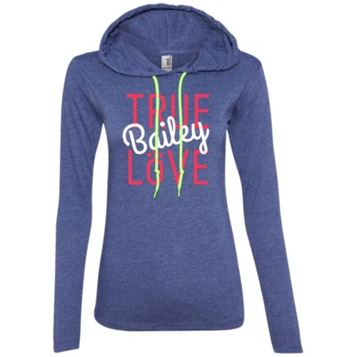 True Love Personalized Ladies' Lightweight T-Shirt Hoodie