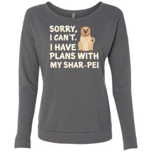 I Have Plans Shar-Pei Scoop Neck Sweatshirt