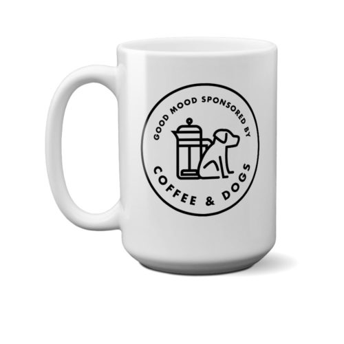 Sponsored By Coffee & Dogs 15 oz. Mug