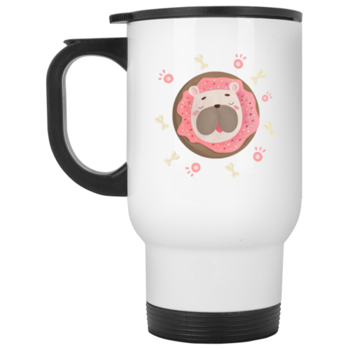 Donuts & Dogs Stainless Steel Travel Mug