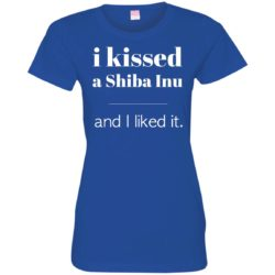 I Kissed A Shiba Inu Fitted Tee