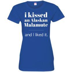I Kissed An Alaskan Malamute Ladies' Premium T-Shirt