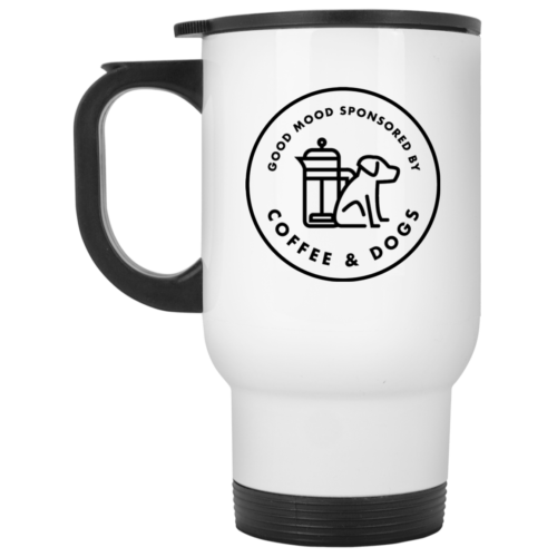 Sponsored By Coffee & Dogs Stainless Steel Travel Mug