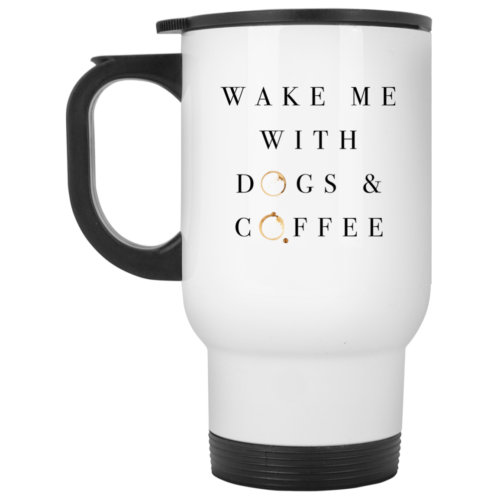 Wake Me With Stainless Steel Travel Mug