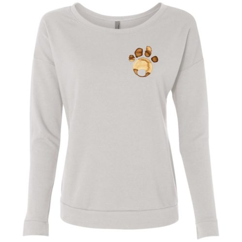 Coffee Paw Scoop Neck Sweatshirt