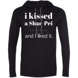 I Kissed A Shar-Pei Lightweight T-Shirt Hoodie