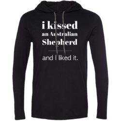 I Kissed An Australian Shepherd Lightweight T-Shirt Hoodie