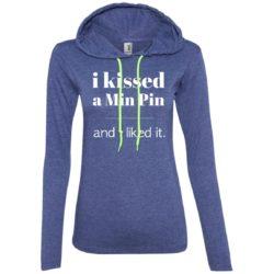 I Kissed A Min Pin Ladies' Lightweight T-Shirt Hoodie