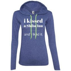 I Kissed A Shiba Inu Fitted T-Shirt Hoodie