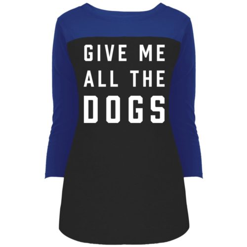 Give Me All The Dogs Colorblock 3/4 Sleeve