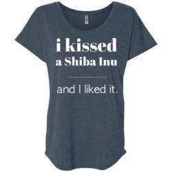 I Kissed A Shiba Inu Ladies' Slouchy T-Shirt
