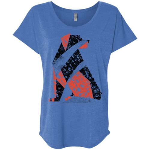 Quilted Dog Ladies' Slouchy T-Shirt