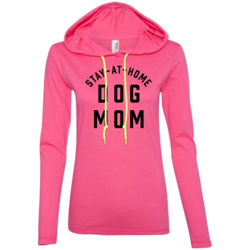 Stay At Home Dog Mom Fitted T-Shirt Hoodie